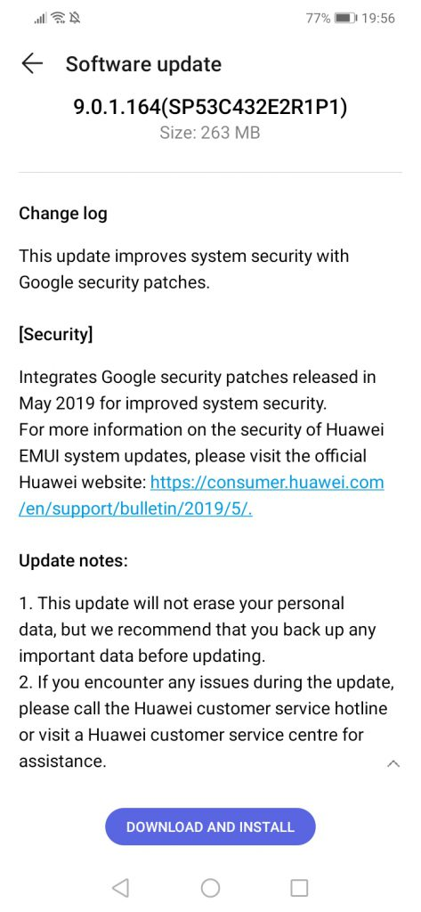 Huawei Nova 3i/P Smart+ receives update: May 2019 security patch